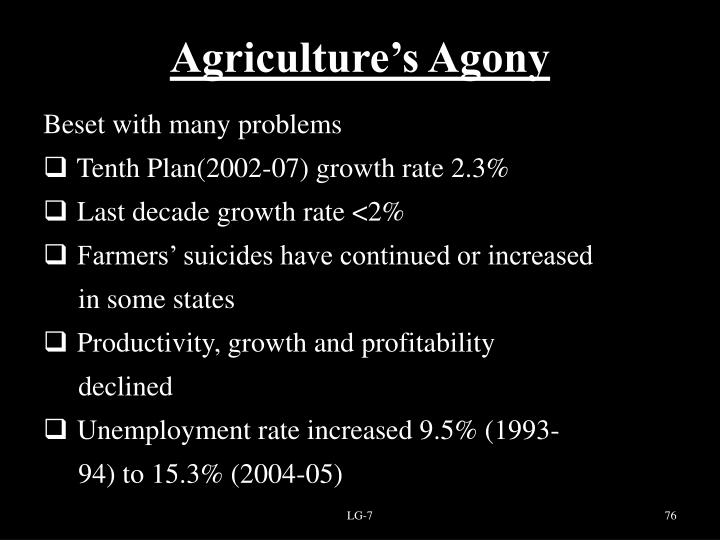 Agriculture's Agony