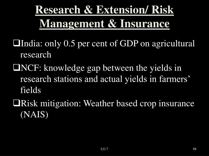 Research & Extension/ Risk Management & Insurance