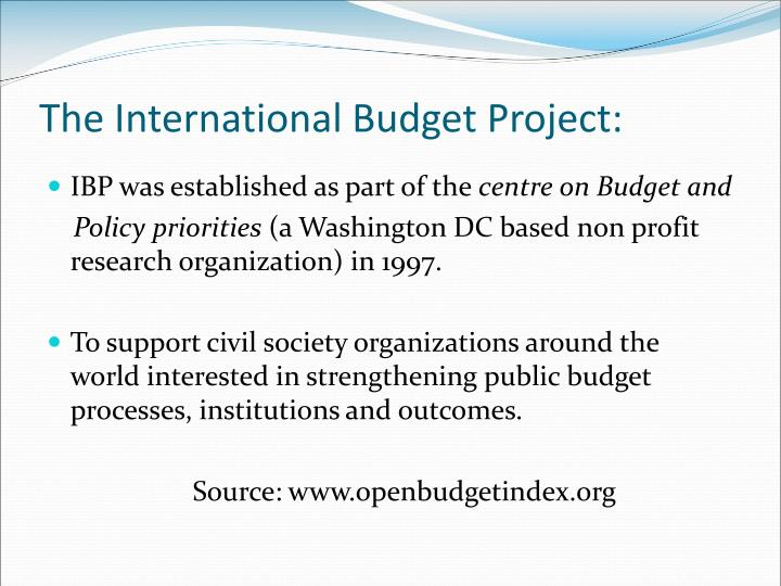 The International Budget Project:
