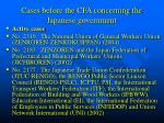 cases before the cfa concerning the japanese government1