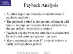 payback analysis