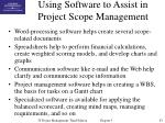 using software to assist in project scope management