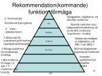 rekommendation kommande funktionsf rm ga