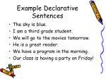 example declarative sentences