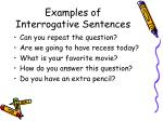 examples of interrogative sentences