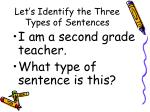 let s identify the three types of sentences