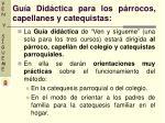 gu a did ctica para los p rrocos capellanes y catequistas