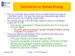comments on stored energy
