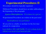 experimental procedures ii