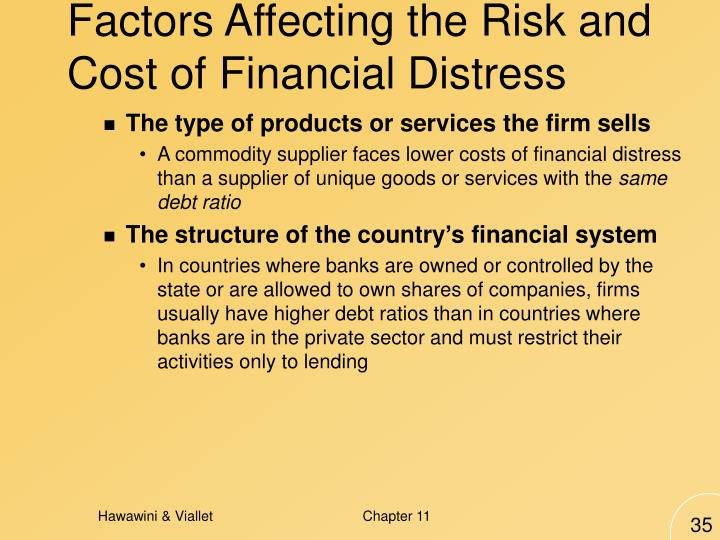 Factors Affecting the Risk and Cost of Financial Distress