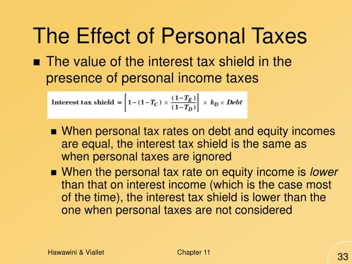 The Effect of Personal Taxes