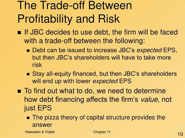The Trade-off Between Profitability and Risk
