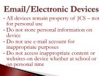 email electronic devices