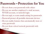 passwords protection for you