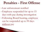 penalties first offense