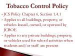 tobacco control policy