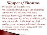 weapons firearms