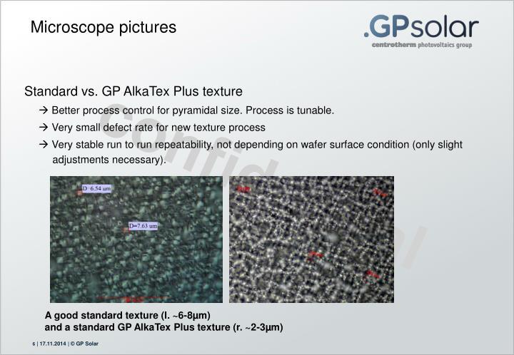 Standard vs. GP AlkaTex Plus texture