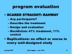 program evaluation1