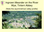 ingrown meander on the river wye tintern abbey