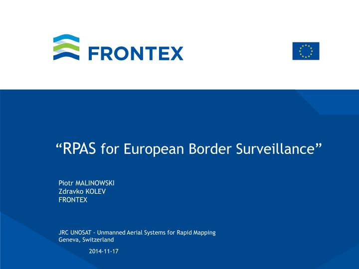 rpas for european border surveillance n.