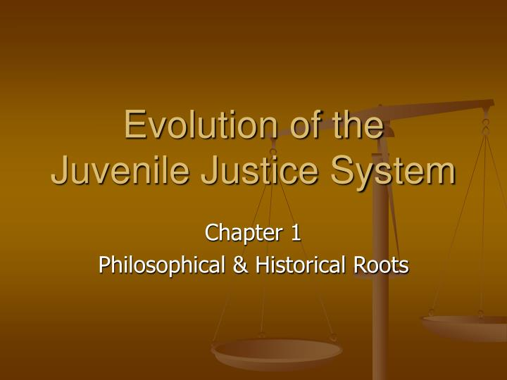 evolution of the juvenile justice system n.