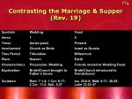 contrasting the marriage supper rev 19