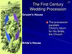 the first century wedding procession