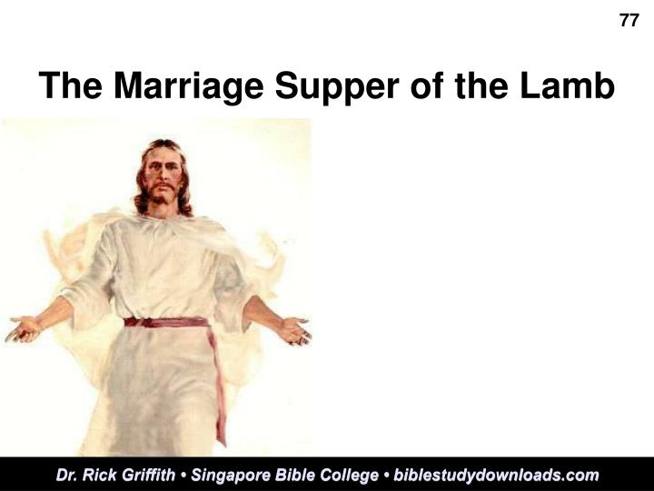 the marriage supper of the lamb n.