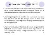 action at community level
