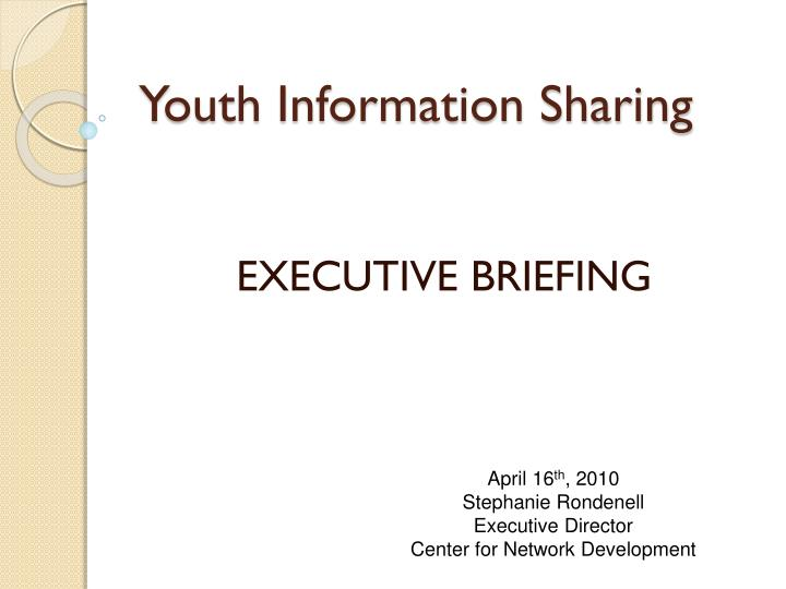 youth information sharing n.