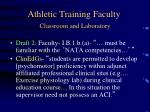 athletic training faculty classroom and laboratory