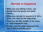 narrate in sequence