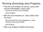 running executing java programs