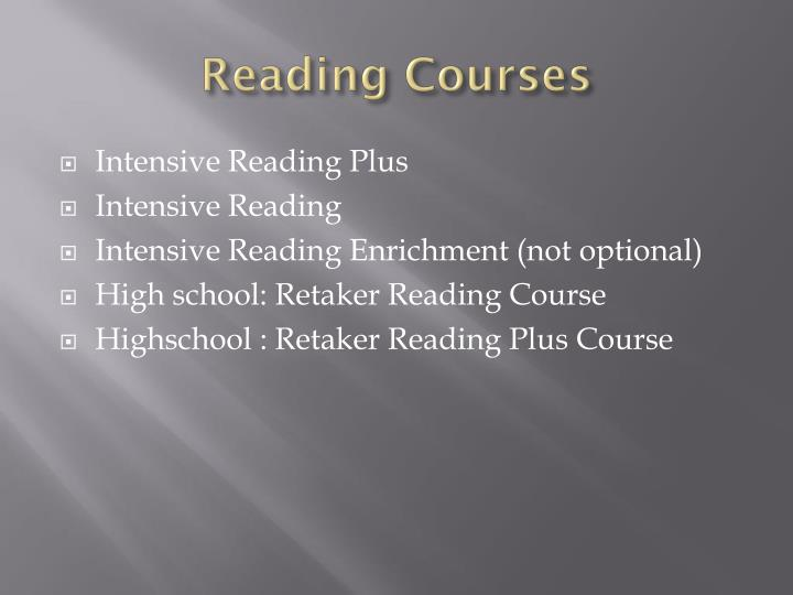 Reading Courses