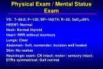 physical exam mental status exam