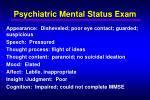psychiatric mental status exam