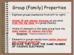 group family properties