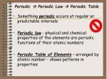 periodic periodic law periodic table