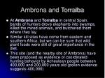 ambrona and torralba