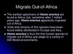 migrate out of africa