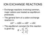 ion exchange reactions1