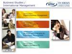 business studies international management
