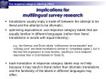 implications for multilingual survey research