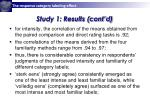 study 1 results cont d