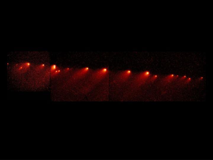 SL9 string of comets