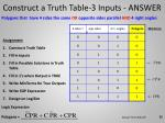 construct a truth table 3 inputs answer