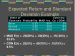 expected return and standard deviation example1