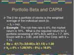 portfolio beta and capm