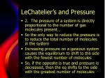 lechatelier s and pressure